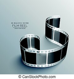 realistic vector 3d film strip background
