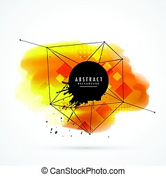 yellow watercolor stain with grunge effect
