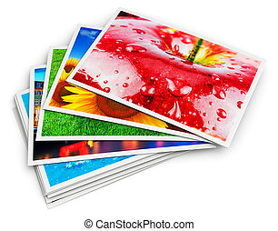 Stack of photo cards - Creative abstract digital photography...