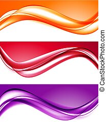 Abstract light colorful backgrounds set