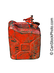 Gasoline can isolated on white background