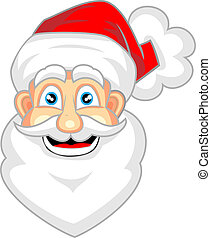 cute face of happy santa claus - vector illustration of cute...