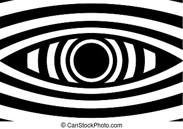 Eye - abstract black and white background