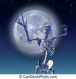 Skeleton Moon