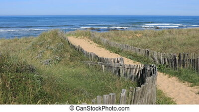 Path to the beach of Paracou in la Chaume (Les Sables...