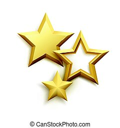 Realistic metallic golden star background. Vector...