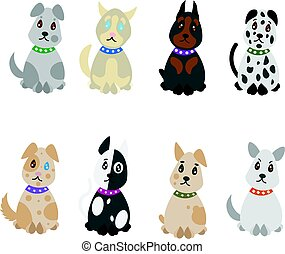 Colorful Hand Drawn Pets Set
