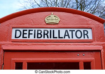 Defibrillator - A Defibrillator being stored in a old style...