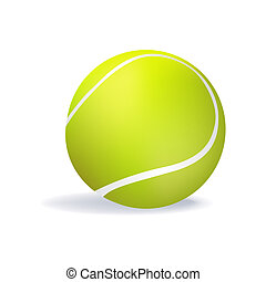 tennis ball - illustration of isolated tennis ball