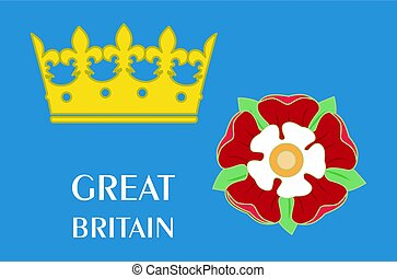 the great britain - Set with the symbols of the Great...