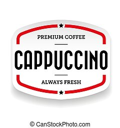 Cappuccino vintage stamp vector sticker