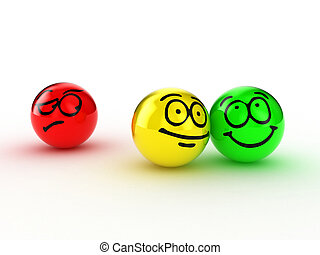 Envy - Illustration of persons expressing different emotions