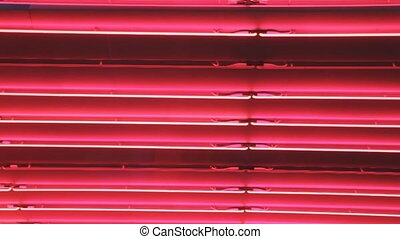 Red neon lights background - Red neon lights changing colour...