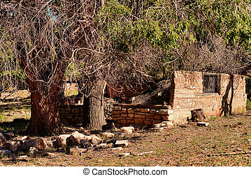 Abandoned House Ruins - Ruins of old abandoned house in...