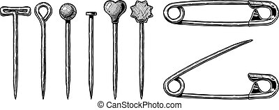 illustration of Sewing pin