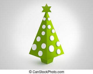 Christmas green tree - Green tree for christmas greetings...