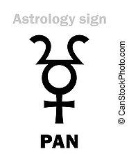 Astrology: planetoid PAN - Astrology Alphabet: PAN (Faun),...