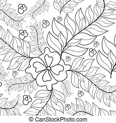 Hand drawn zentangle sunflowers ornament for adult anti stress.