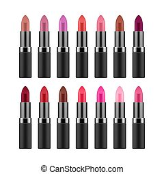 Lipstick collection in different colors
