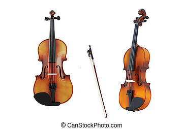 violin from different viewpoints - The image of violin from...