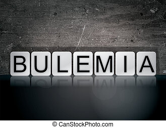 Bulemia Concept Tiled Word - The word Bulemia concept and...