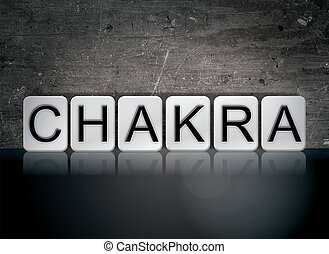Chakra Concept Tiled Word - The word Chakra concept and...