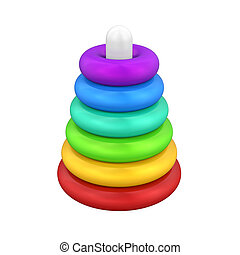 Pyramid Toy Isolated