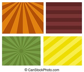Retro Sunburst Striped Backgrounds Vector Illustration
