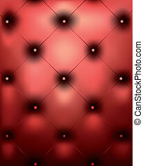 Red genuine leather texture. Vector
