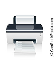 vector color printer device - illustration of vector color...