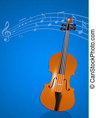 violin instrumental - illustration of violin instrumental