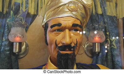 Genie. - Fortune-telling genie with moving mouth. Add your...