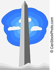 Washington Monument vector illustration for your design
