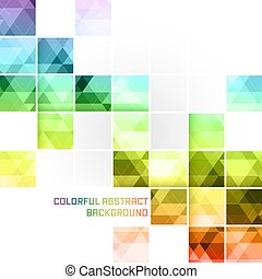 Colorful abstract vector background. Square mosaic pattern....