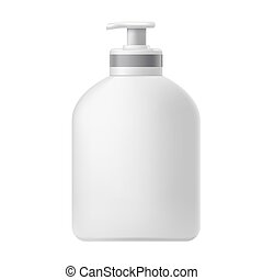 Cosmetic bottle with dispenser - Vector illustration of the...