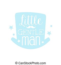Little gentleman label, colorful hand drawn vector Illustration