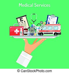 Medical Services Concept - Medical Services concept with...
