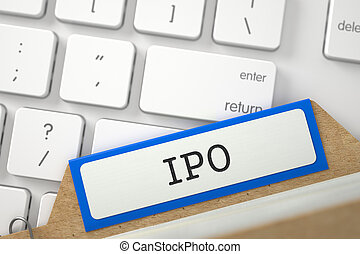 Card File with Inscription IPO. 3D. - IPO. Orange Card Index...