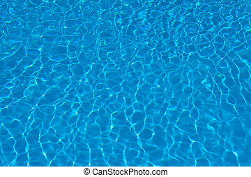 texture of blue water in the pool