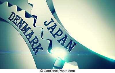Japan Denmark - Mechanism of Metal Cog Gears . 3D . - Japan...