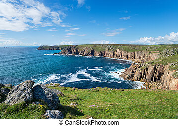Pellitras Point on the Cornwall coast - The view towards...
