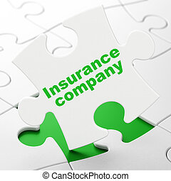 Insurance concept: Insurance Company on puzzle background -...