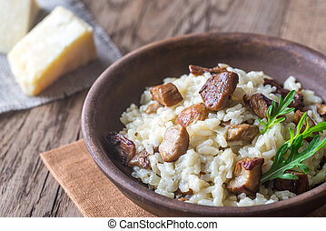 Risotto ai funghi - Risotto with porcini mushrooms