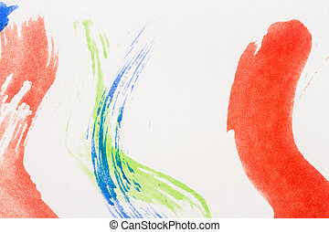 Abstract watercolor art background - Macro shot of abstract...
