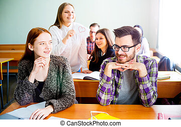 College students on a lecture