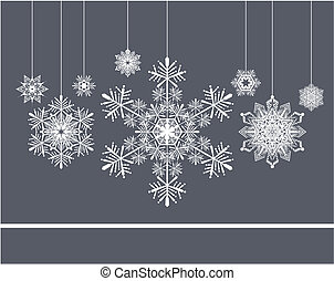 snowflakes xmas background - christmas background with...