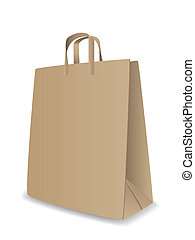 Vector paper bag - Vector illustration of paper bag isolated...