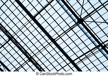 Lattice frame of skylight window - abstract architectural...