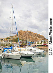 Port of Alicante - Yachts in port of Alicante, Spain