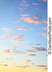 Colorful sky with clouds before sunrise, may be used as...